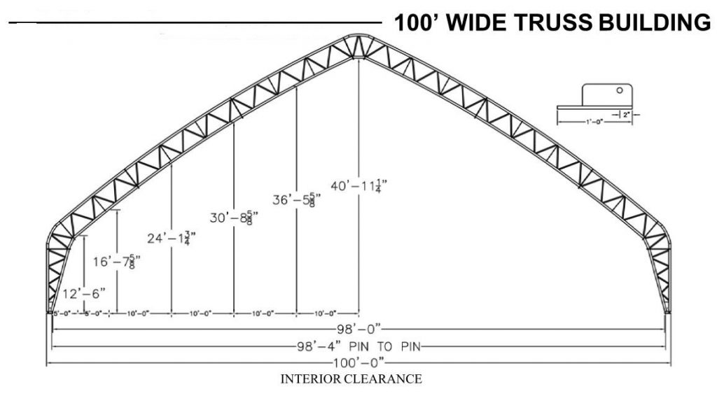 100' wide hoop barn dimensions