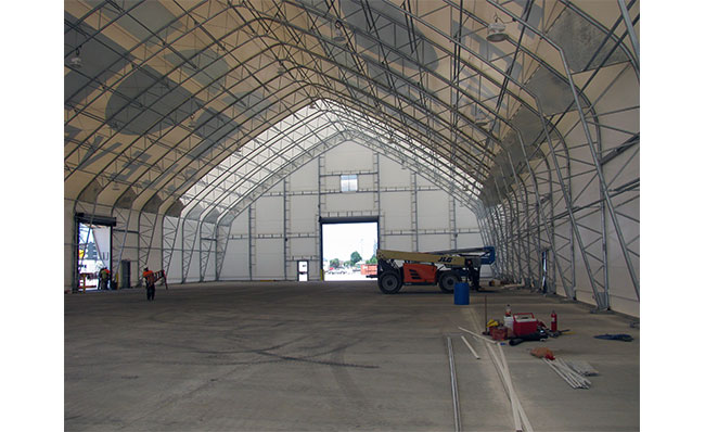 100' Wide Fabric Tension Building