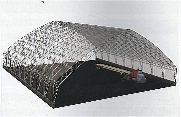 Architect's Drawing og 120' hoop barn