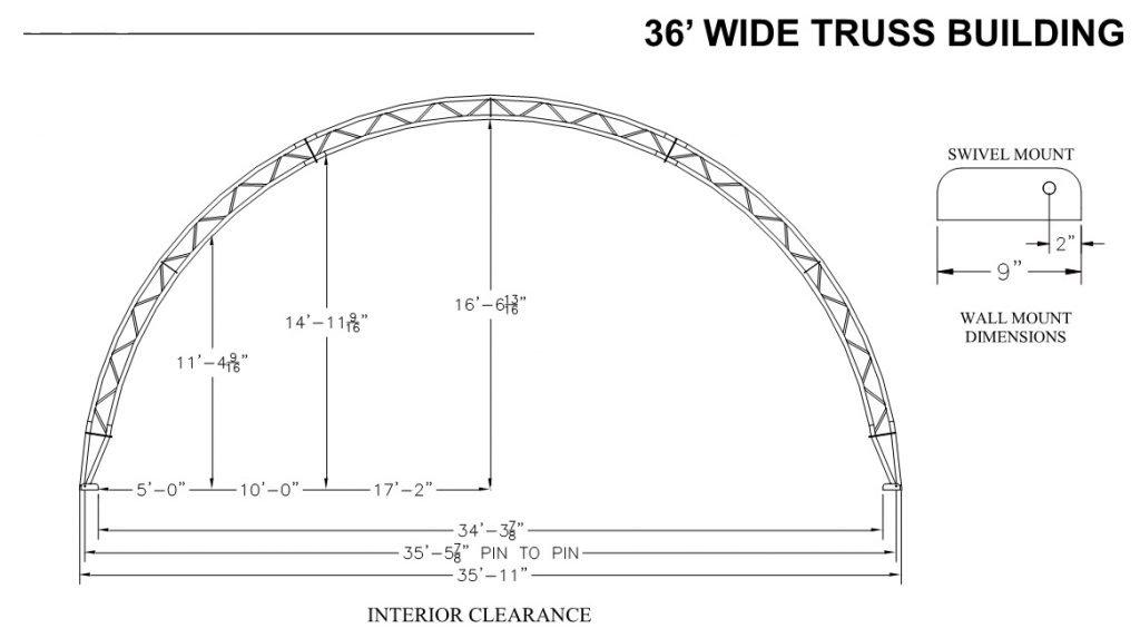 36' Truss Profile Dimensions