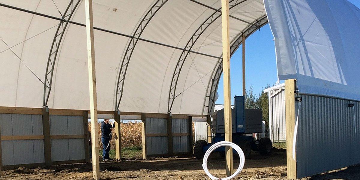 36' Wide Hoop Buildng