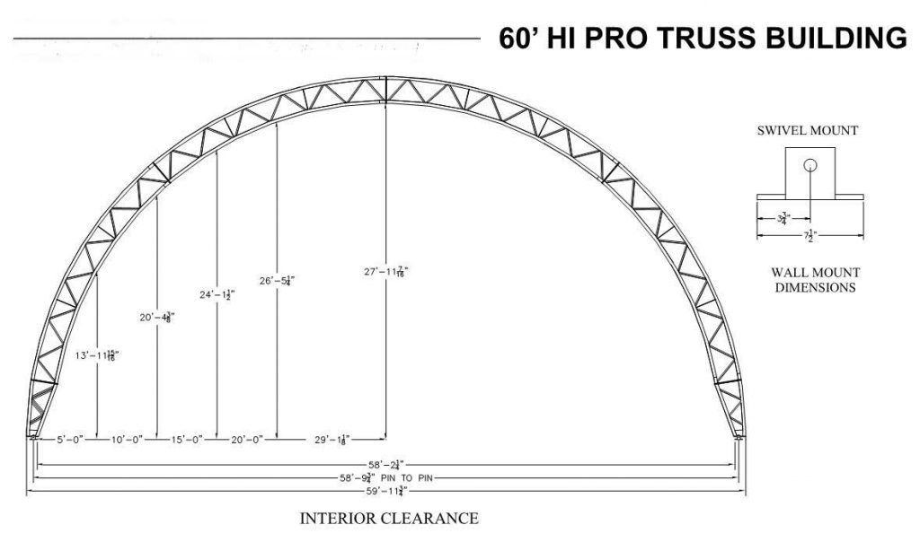 60HPtruss dimensions