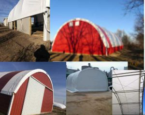 Collage of Hoop Barns