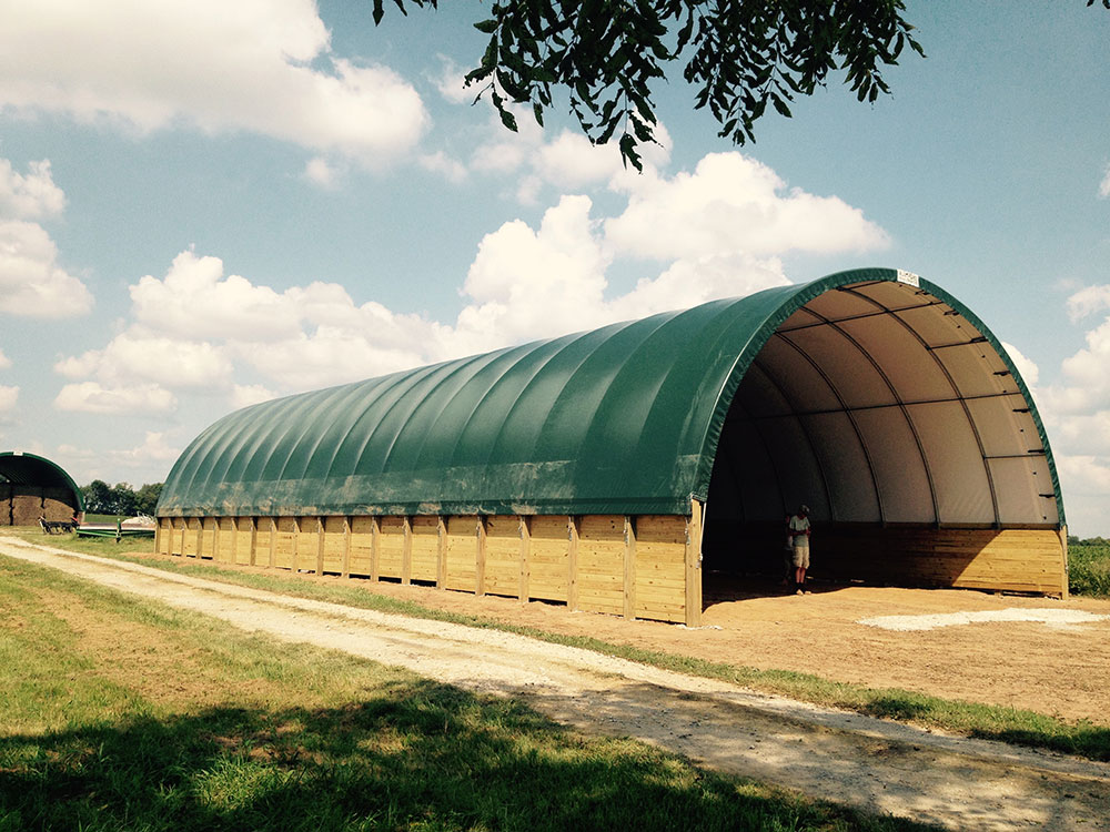 30'Wide Tarp Shed