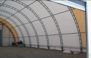 45 wide free standing hoop barn